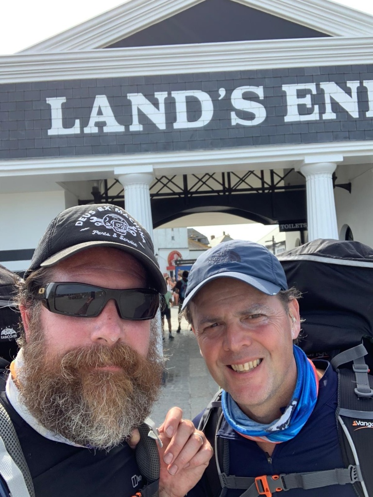 A picture of Gavin and Myself at Lands End Cornwall July 2020