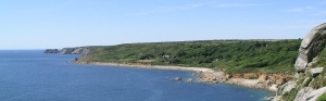 A picture taken along the south west coastal path looking into St Loy