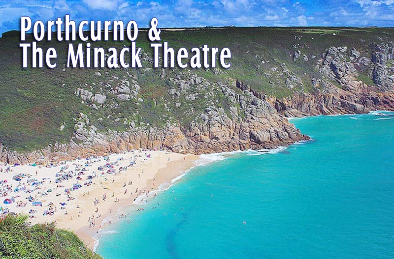An image of Porthcurno Beach in Cornwall