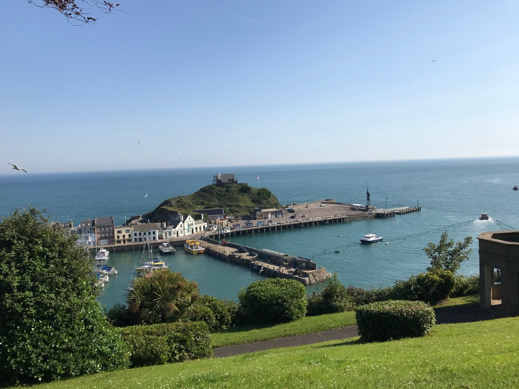 A picture of Ilfracombe harbouring taken from St James Park